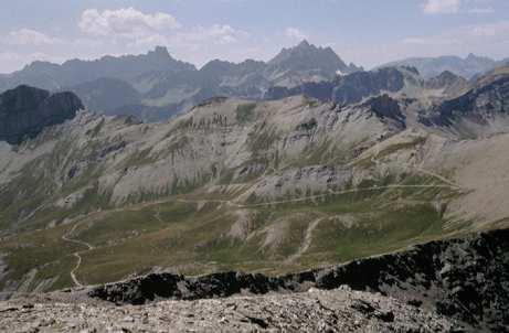 Le vette degli Chambeyron dal Faraut, Vallone del Mollasco