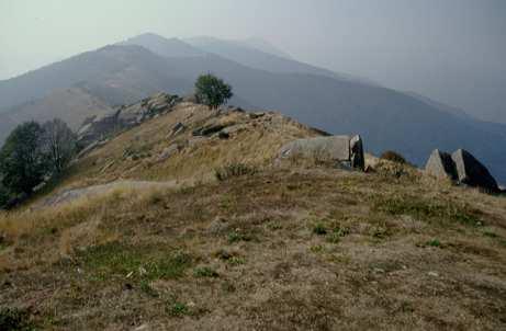 La dorsale del Monte San Bernardo
