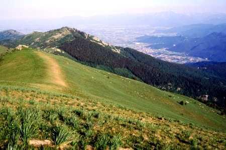 Monte Roccerè e la pianura di Dronero