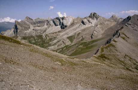 Il gruppo Chersogno, Marchisa e Pelvo dal Monte Faraut