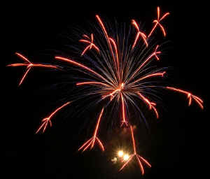 fuochi d'artificio a Dronero