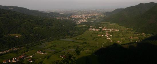 Dronero e l'imbocco della Valle Maira
