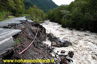 Alluvione nel vallone di Marmora e Canosio