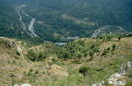 A picco sul fiume Maira