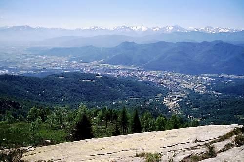 Dronero e Roccabruna dal San Bernardo
